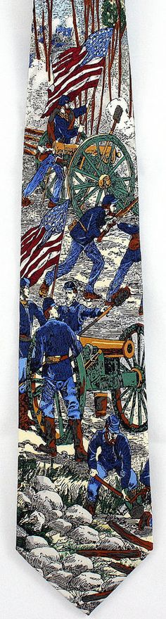New Battle of Gettysburg Mens Necktie Americana Series Civil War 100 % Silk Tie #Tango #NeckTie