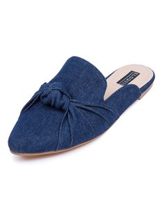 Denim Knotted Mule from eloquii.com