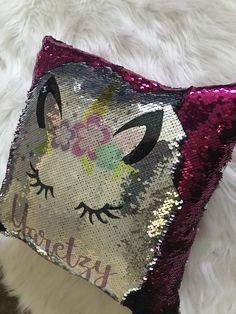 Unicorn Bedroom, Mermaid Pillow, Baby Prince, Sequin Pillow, Mermaid Sequin, Unicorn Face, Baby Boy Birthday, Magical Unicorn, Silver Sequin