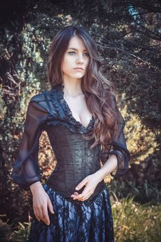 #Beauty #nature #girl #photo #corset фото Рыжая Кошка http://vk.com/id.house на фото Александра Иванченко http://vk.com/id_alohaoi #girl #photo #fashion #costumes #gothic #flowers #inspiration #color #Dress #Model #photostudio #MUAH #makeup #hairstyle #forest