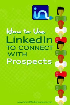 Do you use LinkedIn to find business opportunities?  LinkedIn has a number of features that make it easy to develop relationships with the right prospects for your business.  In this article, youll discover four ways to use LinkedIn for business. Via @sm
