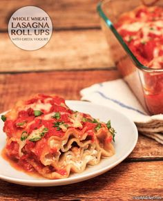 #HealthyRecipe / Whole Wheat Lasagna Roll Ups with Greek Yogurt | The Man With The Golden Tongs Goes All Out On Health | Scoop.it