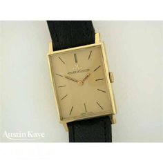 Gents Jaeger LeCoultre 18ct gold manual on strap #watches #fashion #jeweller #JaegerleCoultre