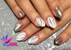 Marble and chroom nails