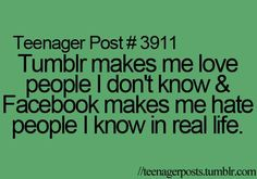 Except I don't have a facebook