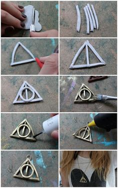 DIY - Deathly Hallows Fimo Necklace