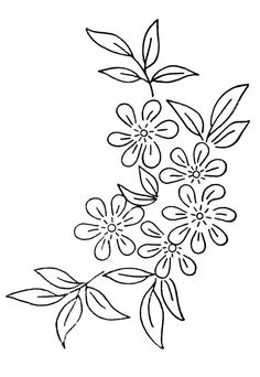 Vintage Embroidery Designs Image detail for -Free Embroidery Transfer Patterns – Vintage Flowers - Lotsa flowers in these embroidery patterns. A sprig is generally a single stem with one … Hand Embroidery Patterns Free, Embroidery Flowers Pattern, Embroidery Transfers, Silk Ribbon Embroidery, Crewel Embroidery, Embroidery Ideas, Flower Patterns, Embroidery Thread, Simple Embroidery