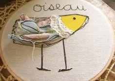 Oiseau - bird embroidery by MariaDryden