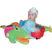 K's #Kids CROCOBLOCO  Over 4 feet of lovable, cuddly plush! Mr. Big Stuff is actually 4 detachable cubes, covered in baby-safe activities that can be assembled into one big playmate. Activities include a mirror, crinkles, rattles and squeaks. Can also be used as a pillow or snuggle pal. Ages 6+ months. #Toys #Kids #ToyStore #Toys4kids #Fun4Kids