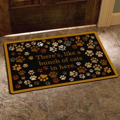 Drehome Just So You Know Theres Like A Lot of Boys in Here Welcome Monogram Non-Slip Doormat Non-Woven Fabric Floor Mat Indoor Entrance Rug Decor Door Mat 23.6x15.7 Inches