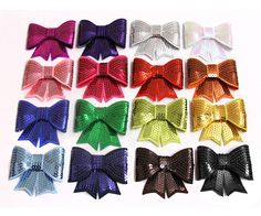 Sequin Bow Applique - 3 inch - Grab Bag 10 Bows *** To view further for this item, visit the image link.