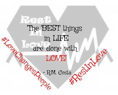 The best things in lifeare done with love! #lovechangespeo...