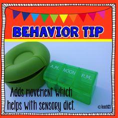 Teach123 - tips for teaching elementary school: Sensory Diet: Behavior Tip with Movement