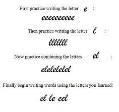 teaching beginning cursive