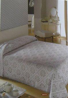 Crochet Bedspread Pattern, Crochet Quilt, Afghan Crochet Patterns, Thread Crochet, Table Covers, Bed Covers, Vintage Crochet Patterns, Manta Crochet, Modern Crochet