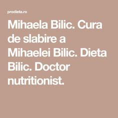 Mihaela Bilic. Cura de slabire a Mihaelei Bilic. Dieta Bilic. Doctor nutritionist. Esential Oils, Metabolism, Health And Beauty, Food And Drink, Health Fitness, Homemade, Blog, Sport, Lunches
