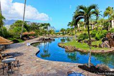 The pool at the Hanalei Bay Resort in Princeville, Kauai, HI. #resortime #hawaiipoolsidecontest