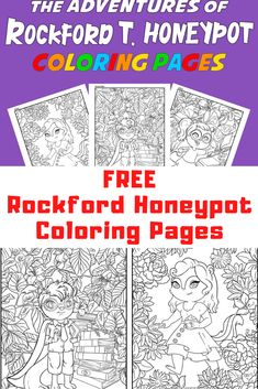 FREE Rockford T. Honeypot Coloring Pages #coloringpages #activitypages #chipmunkcoloringpages #freecoloringpages Cool Coloring Pages, Free Printable Coloring Pages, Free Printables, Honeypot, Finding True Love, Chapter Books, Have Some Fun, Summer Activities, My Books