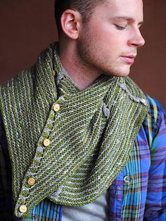 Snoninger og riller. Dette Stephen West-tørklæde er nærmest et sjal, som kan draperes på mange spændende måder.