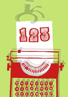 Typewriter 123 by antigraphic, via Flickr