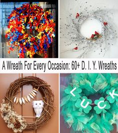 Everyone loves an adorable wreath! The problem is that having an appropriate wreath for every occasion can be seriously expensive! That's why we love a good DIY! Here you will find a DIY wreath for every occasion!