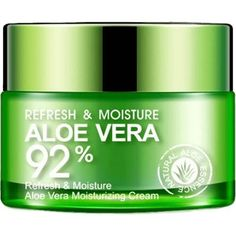 Aloe Vera Cream Aloe Vera Cream is perfect for whitening, moisturizing, anti-acne and dispelling scars. It also fight aging, reduce Acne and Infection.
