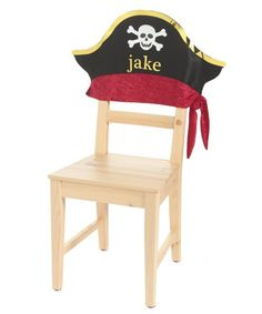 personalized pirate chair cover Pirate Birthday, Pirate Theme, Birthday Chair, Hand Painted Chairs, Diy Kids Furniture, Party Chairs, Twin First Birthday, 4th Birthday Parties, Chair Covers