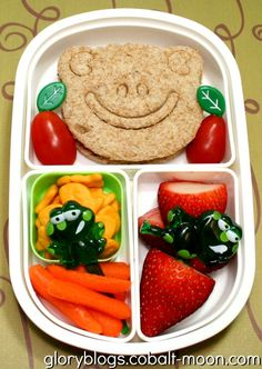 Happy Frog Bento Lunch -- Great Back To School Lunch Ideas. #TheFoodChannel #recipes