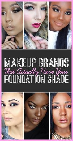 11 Life-Saving Makeup Brands That Make Foundation For Your Skin Tone   - time to go shopping methinks #MakeUpHacks
