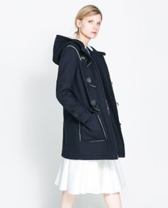 two-sided coat, zara.