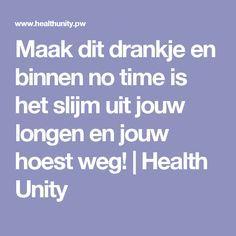Maak dit drankje en binnen no time is het slijm uit jouw longen en jouw hoest weg! | Health Unity