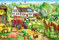 Schmidt, Farm Animal Crafts, Farm Animals, Farm Pictures, Cute Pictures, Speech Therapy Themes, Best Jigsaw, Farm Paintings, Picture Composition
