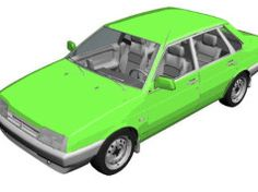Lada Samara VAZ 21099 Paper Car Free Vehicle Paper Model Download