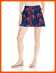 Roxy Women's Stellar Star Pull on Skort, Lululah Combo/Neon Grapefruit, Medium - All about women (*Amazon Partner-Link)