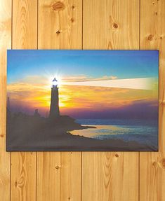 Lighthouse Lighted Scenic Canvas Wall Art