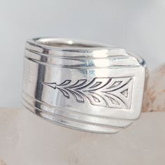 Vintage Spoon Ring  Spoon Jewelry  Clarion Silverware by mcfmiller, $24.00