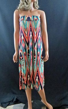 COWGIRL Western Chevron Turquoise Coral Gypsy AZTEC BOHO MAXI SKIRT DRESS NWT S OTHER SIZES TOO! our prices are WAY BELOW RETAIL! all JEWELRY SHIPS FREE! www.baharanchwesternwear.com baha ranch western wear ebay seller id soloedition