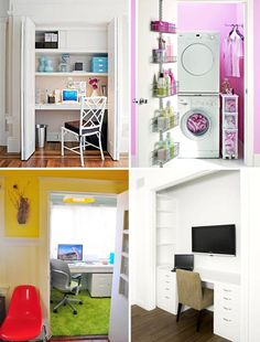 Maximize Your Closet Into a Home Office or Laundry Room