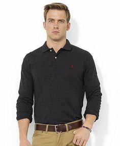 Polo Ralph Lauren Shirt, Classic-Fit Long-Sleeve Cotton Mesh Polo