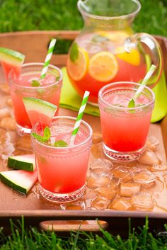 Watermelon Lemonade — so refreshing and pretty, plus how good would it be spiked with vodka, via @cookingclassy