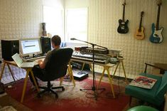 Home recording studio of Los Angeles-based commercial and movie composer Brad Breeck. - via Apartmenttherapy.com
