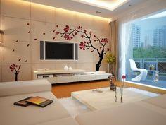 Modern-wall-mural-in-living-room