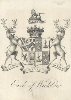 Armorial Bookplate - Earl of Wicklow