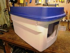 An enclosed litter box made with a 18 gallon bin. More durable at a third of the price!
