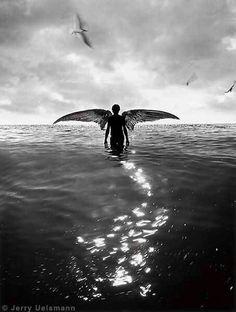Fallen angel, jerry uelsmann
