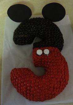 DIY Mickey mouse Number Cake #diy #food #cAKE