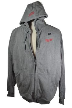 #Milwaukee 2373-XL M12 #Cordless #Heated #Hoodie Only Gray XL No Battery or Charger for sale in my ebay store
