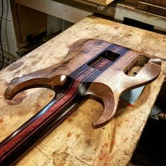 Equilibrium Guitars neck heel carve