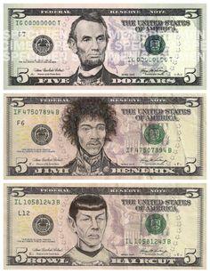 Im Jahr 2010 begann der Künstler James Charles, Bilder auf Geldscheine  zu malen. Er verwandelte nach und nach immer mehr  Präsidenten auf den Dollarscheinen in Monster, Stars und Märchenfiguren. Seine Fertigkeiten und die witzige Umsetzung seiner Ideen, bringt uns sowohl zum Lächeln als auch zum Nachdenken.