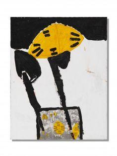 Künstler nicht bekannt Titel nicht bekannt (1998/99) Mischtechnik auf Leinwand H 140 cm. B 110 cm.   Provenienz: Schweizer Privatsammlung.  Signiert. Modern, Contemporary Art, Halloween, Mixed Media Canvas, Contemporary Artwork, Swiss Guard, Auction, Modern Art, Spooky Halloween